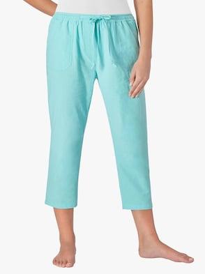 Kalhoty po lýtka - tyrkysová