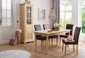 Home affaire 4-Fußstuhl - antik braun