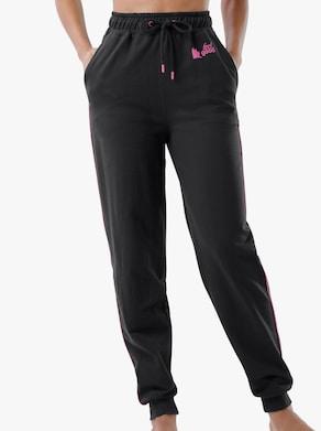 Hose - schwarz-pink