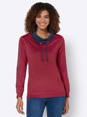 Sweatshirt - kirsche-nachtblau