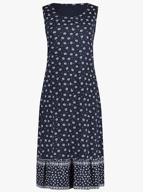 Kleid - marine-gemustert