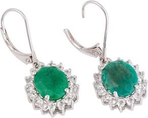 Firetti Paar Ohrhänger - silberfarben-grün