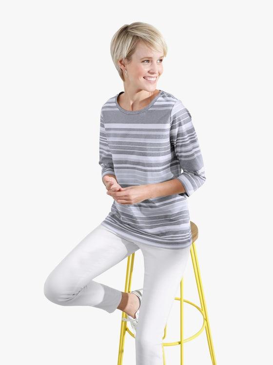Shirt - grau-geringelt