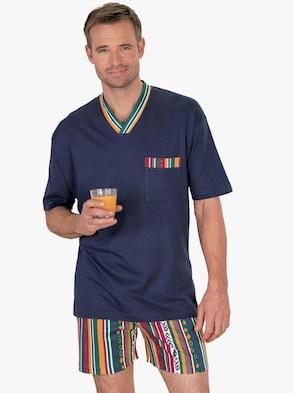 Kortärmad pyjamas - blå