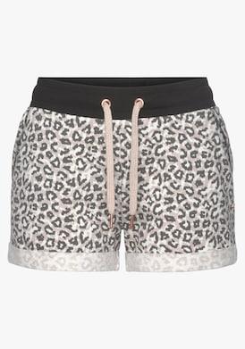 LASCANA Shorts - beige-schwarz