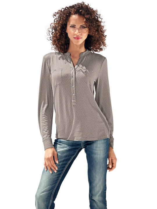 Best Connections Blusenshirt - taupe