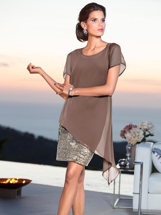 Patrizia Dini Cocktailkleid - taupe