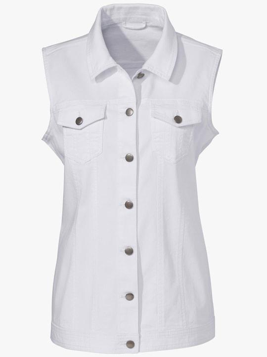 Jeans-Weste - weiß