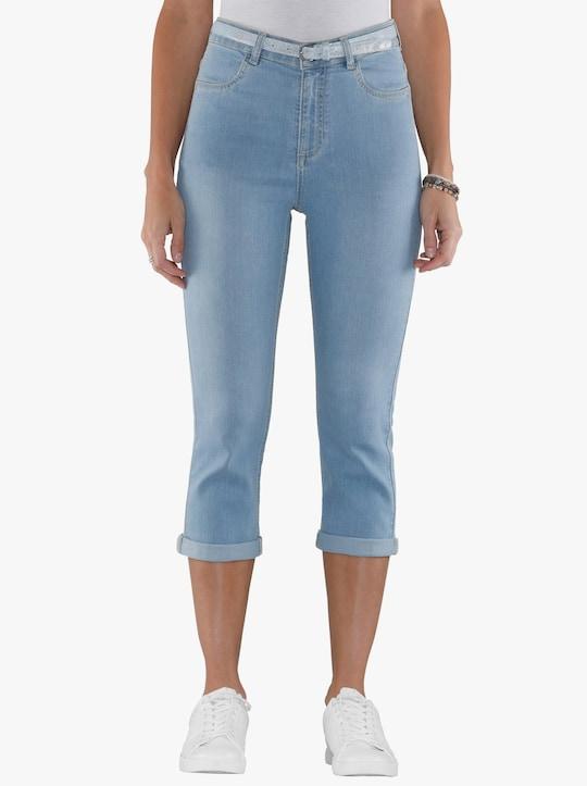 Capri-jeans - blue-bleached