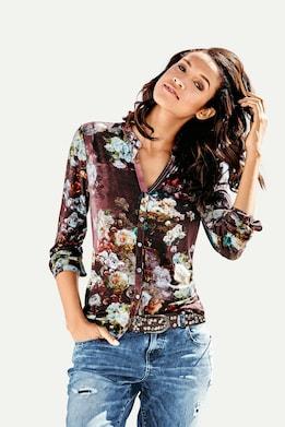 Linea Tesini Shirtbluse - bordeaux