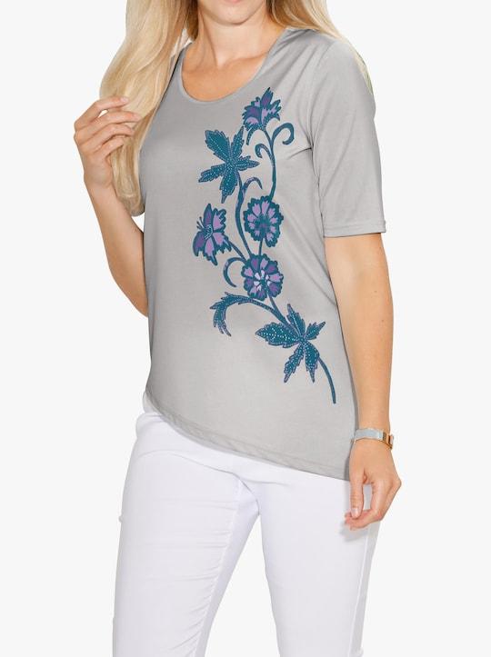 Shirt - lichtgrijs gedessineerd