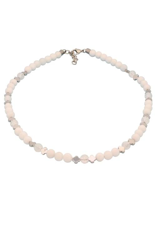 Firetti Collier - edelstahlfarben-weiß-silberfarben
