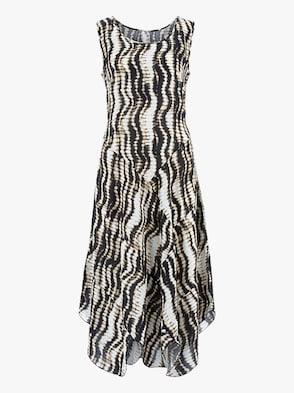 Kleid - natur-gemustert