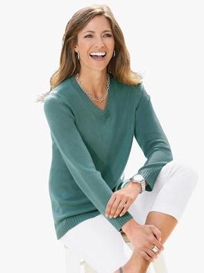 Pullover - jadegrün