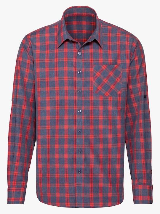 Catamaran Hemd met lange mouwen - blauw/rood geruit