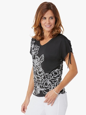 Shirt - schwarz-bedruckt