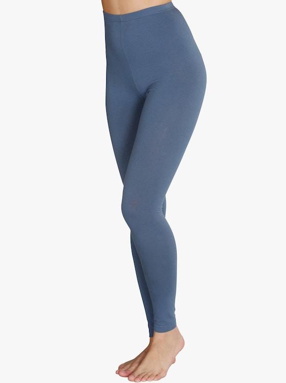 Leggings lang - schwarz + jeansblau