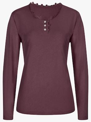 Schlafanzug-Shirt - bordeaux
