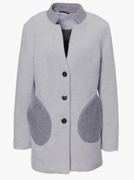 Korte mantel - grijs