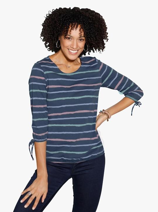Shirttuniek - donkerblauw gestreept