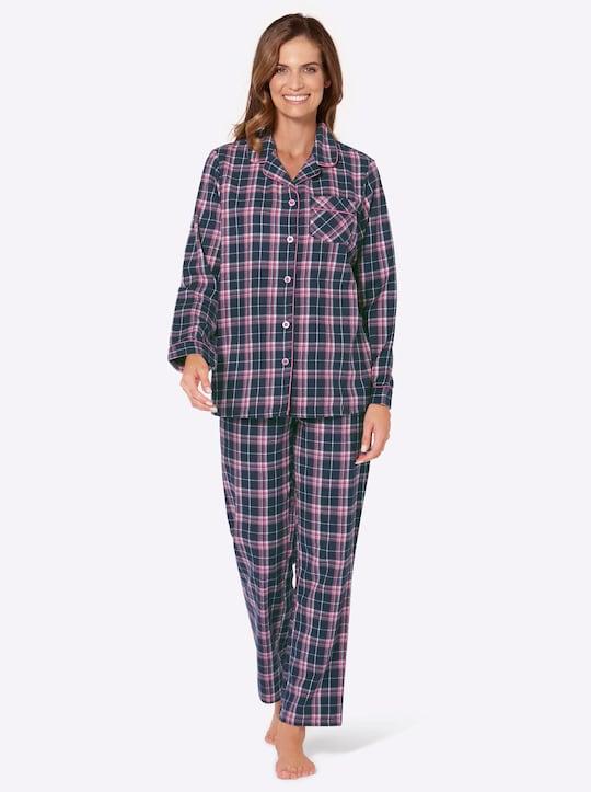 wäschepur Pyjama - pink-kariert