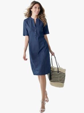 Jeans-Kleid - dunkelblau
