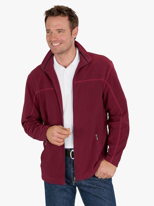 Fleece-Jacke - bordeaux