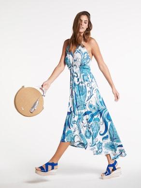 Ashley Brooke Druck-Kleid - blau