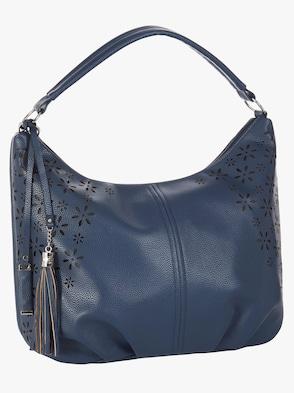 Handtasche - dunkelblau-gemustert