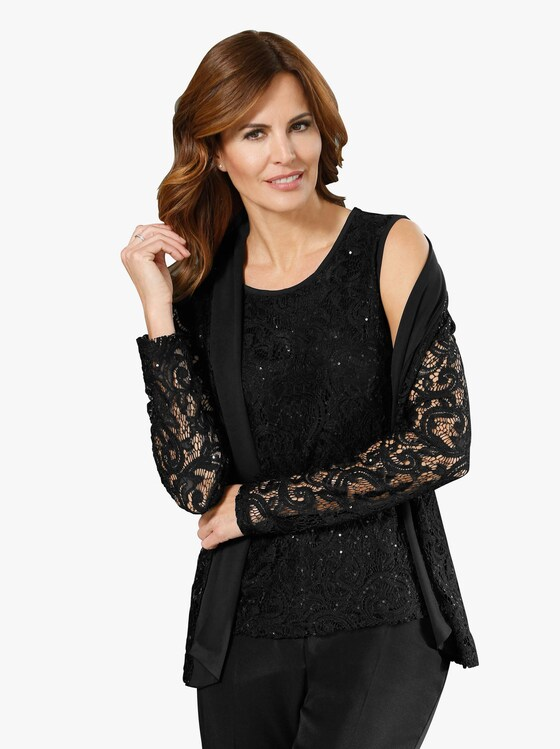 Fair Lady Shirttop - schwarz