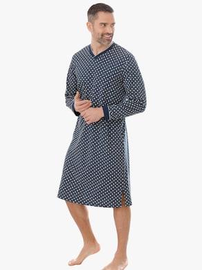 Nachthemd - marine-bedruckt