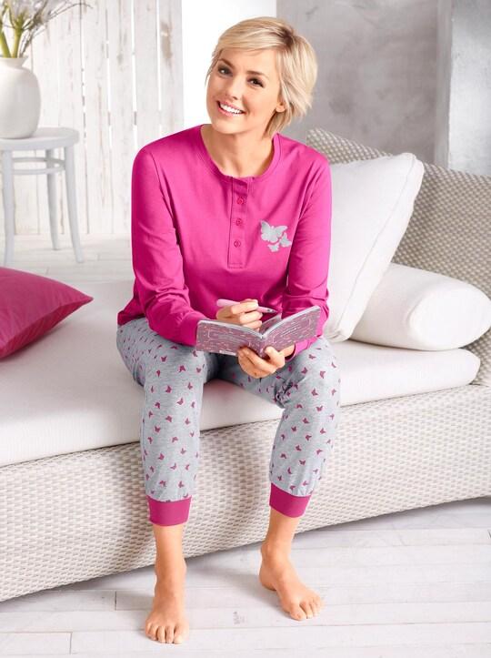 wäschepur Schlafanzug - pink-grau