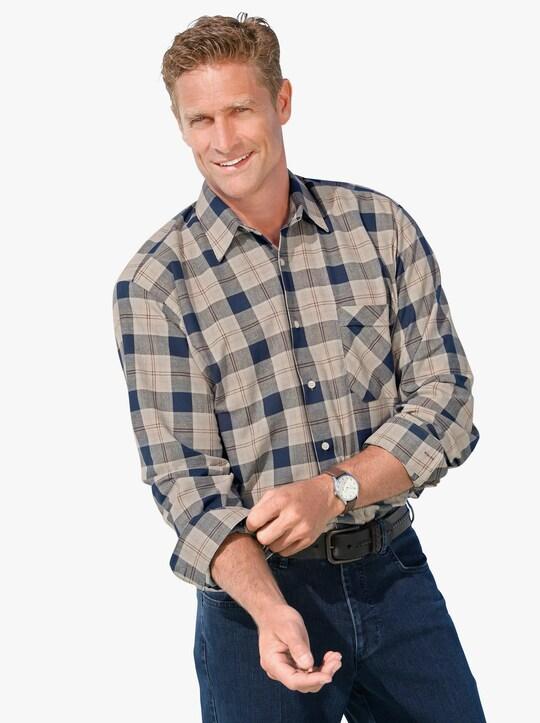 Hemd met lange mouwen - beige/blauw