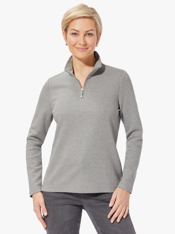 Collection L Sweatshirt - grau-meliert