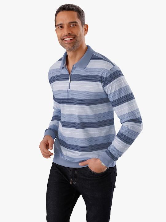 Poloshirt - blau-gestreift