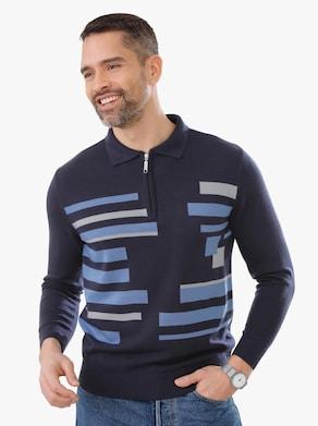 Pullover - marine gedessineerd