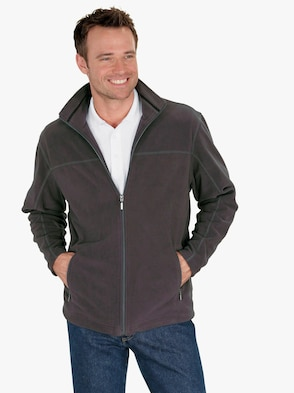 Fleece-Jacke - anthrazit