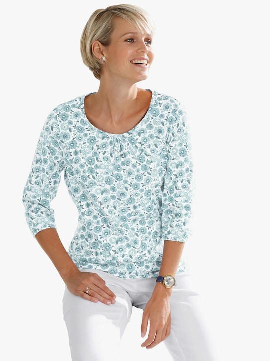 Shirt - mint geprint
