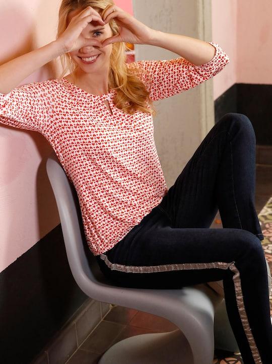 Shirt - ecru-grapefruit-bedruckt