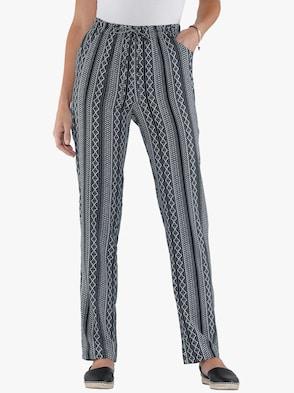 Nohavice - čierna vzorovaná