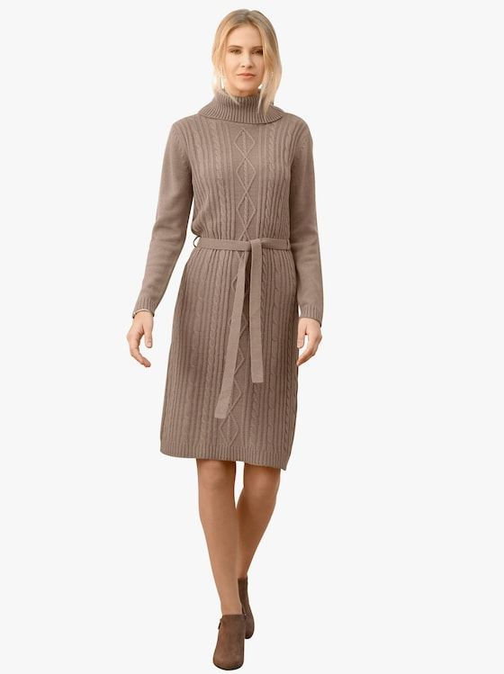 Tricot jurk - taupe