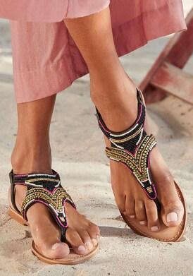 LASCANA Sandale - pink-schwarz