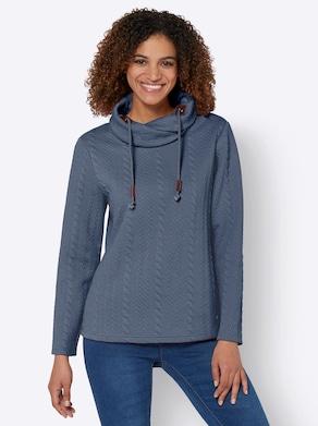 Sweatshirt - rookblauw