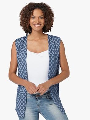Shirtweste - jeansblau-gemustert