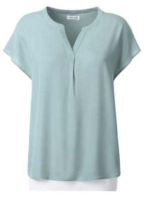 Collection L Kurzarm-Bluse - mint
