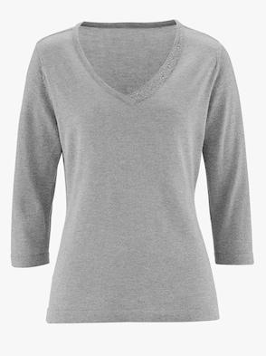 Pullover - silbergrau