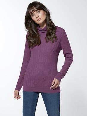 Merino-Kaschmir-Pullover - flieder