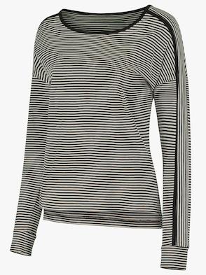 Shirt - schwarz-ecru-gestreift