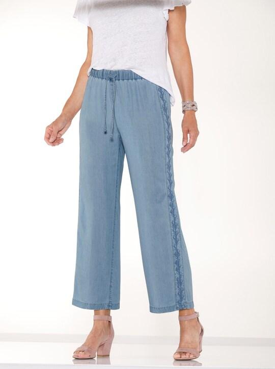 Culotte - jeansblau