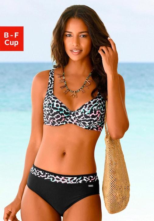 Venice Beach Bügel-Bikini - schwarz-bedruckt